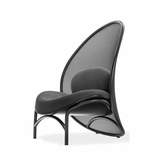 Chips Lounge Chair DeFrae Contract Furniture Black Side View