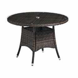 Clova Outdoor Table Lloyd Loom Style Rattan Table Outside DeFrae Contract Furniture