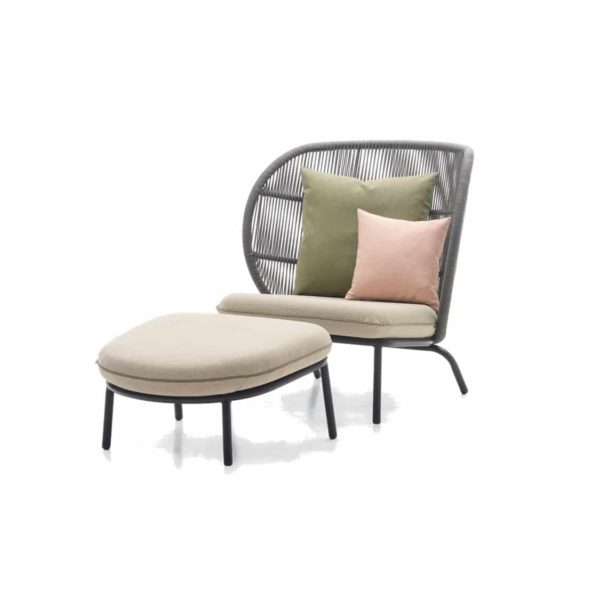 Kodo Cocoon Lounge Armchair with footrest Vincent Sheppard DeFrae Contract Furniture