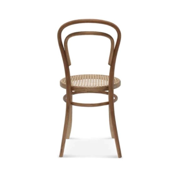 Levi side chair 14 classic bentwood chair DeFrae Contract Furniture Back View