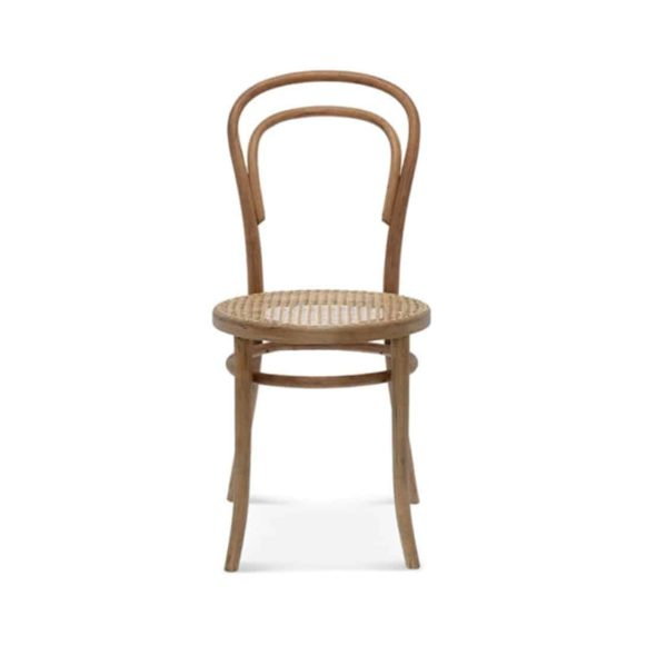 Levi side chair 14 classic bentwood chair DeFrae Contract Furniture Front View