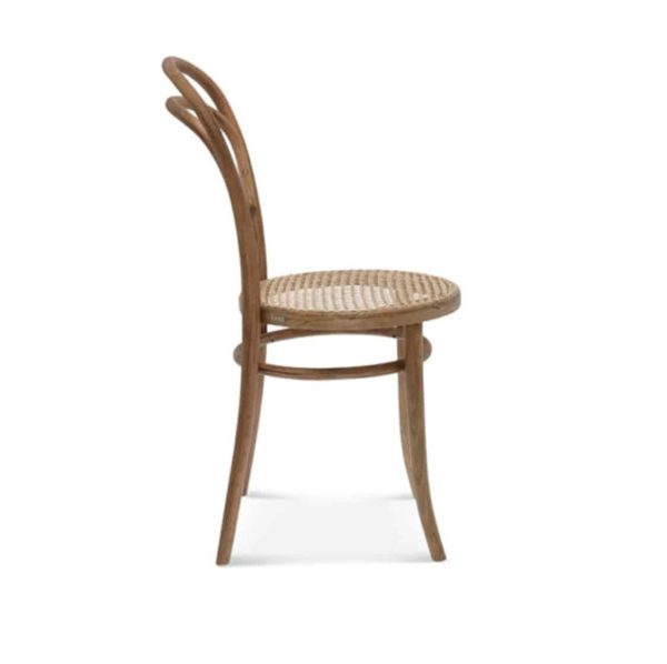 Levi side chair 14 classic bentwood chair DeFrae Contract Furniture Side View