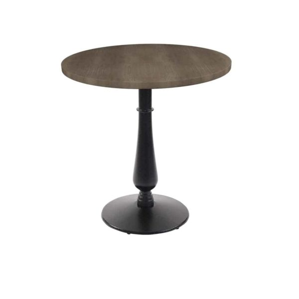Manor Table base dining height black cast iron round table