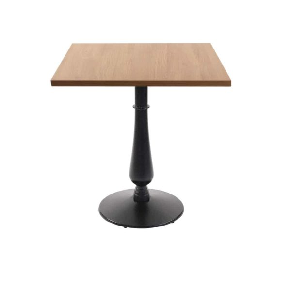 Manor Table base dining height black cast iron square table