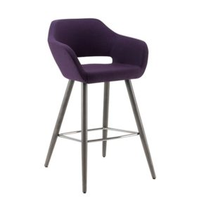 Manu Bar Stool 07 101 Base DeFrae Contract Furniture Side View