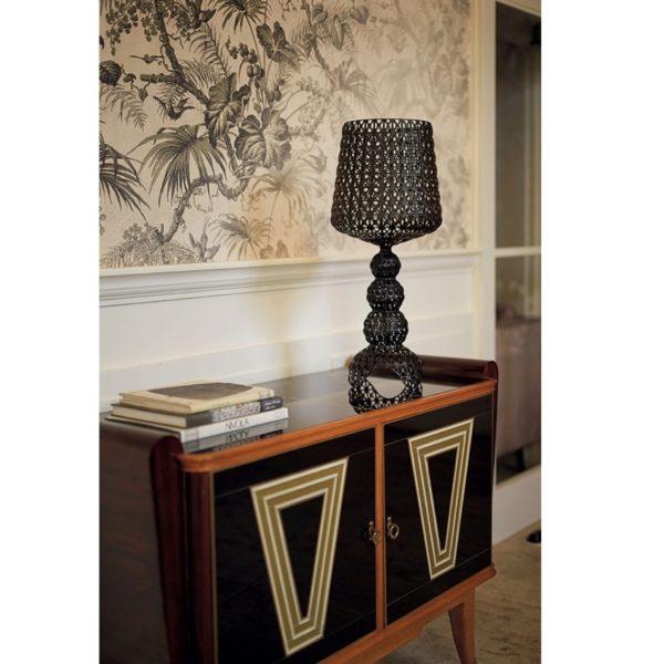 Mini Kabuki Table Lamp from Kartell at DeFrae Contract Furniture Black in situ