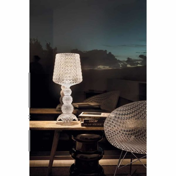 Mini Kabuki Table Lamp from Kartell at DeFrae Contract Furniture Crystal in situ