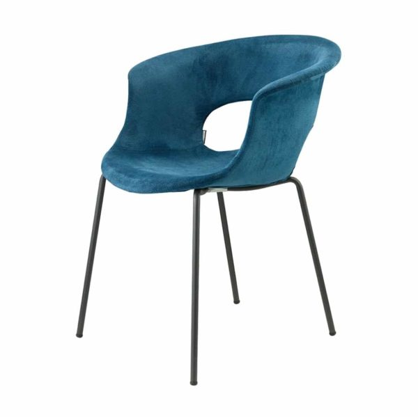 Miss B Pop Armchair DeFrae Contract Furniture Blue Velvet