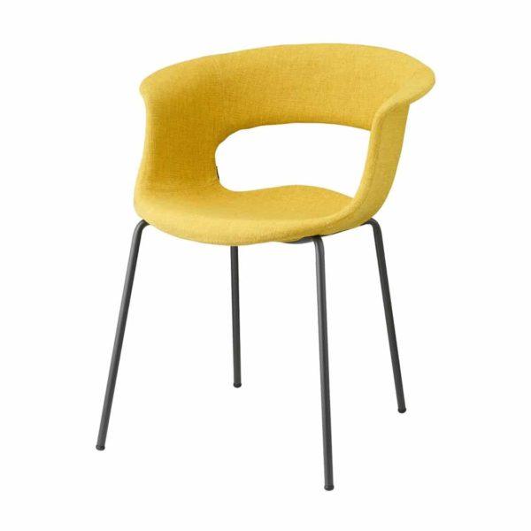 Miss B Pop Armchair DeFrae Contract Furniture Yellow Velvet
