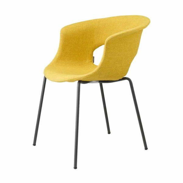 Miss B Pop Armchair DeFrae Contract Furniture Yellow Velvet Side