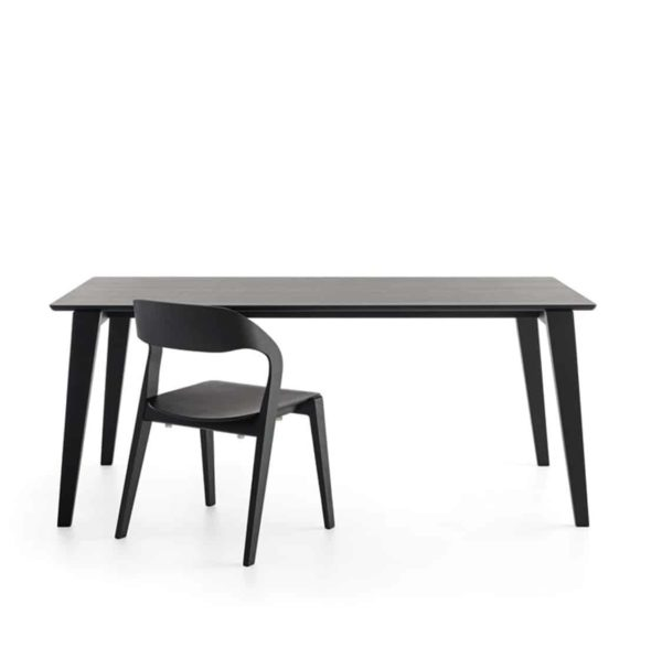 Mixis T Rectangular Table DeFrae Contract Furniture Black
