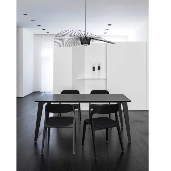 Mixis T Rectangular Table DeFrae Contract Furniture Black In Situ