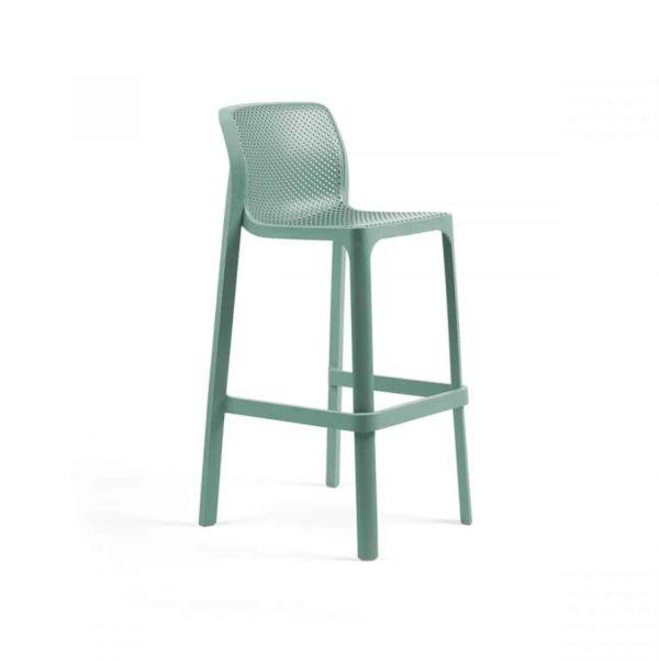 Net Bar Stool DeFrae Contract Furniture Mint Green
