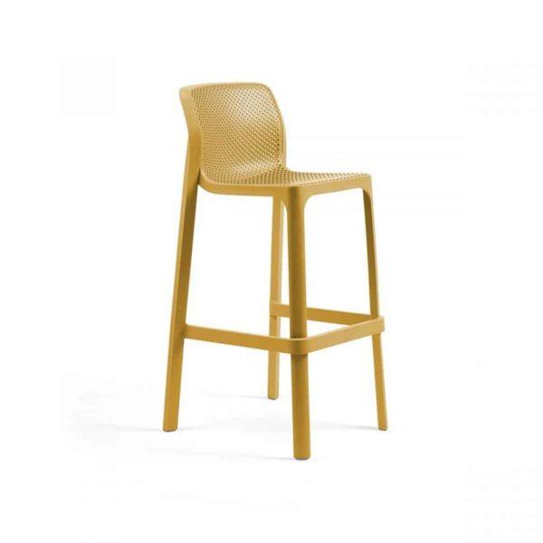 Net Bar Stool DeFrae Contract Furniture Mustard
