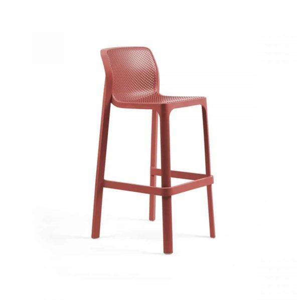 Net Bar Stool DeFrae Contract Furniture Mustard Red