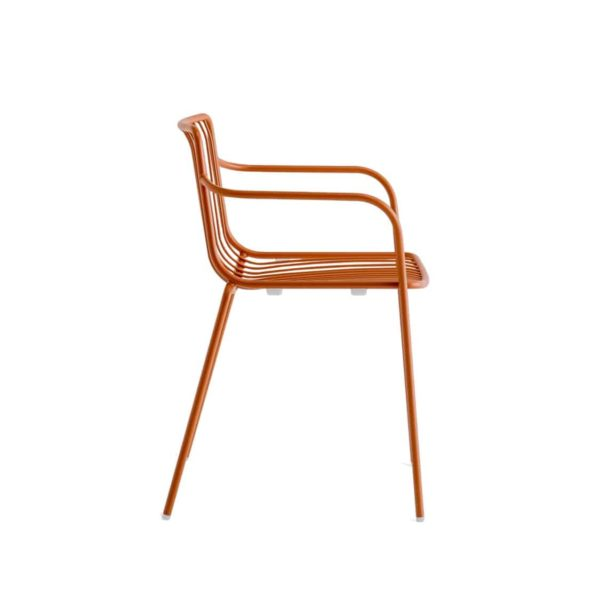 Nolita armchair 3655 Pedrali at DeFrae Contract Furniture Rose Side View