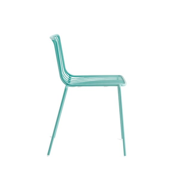 Nolita side chair 3650 Pedrali at DeFrae Contract Furniture Aqua Side On
