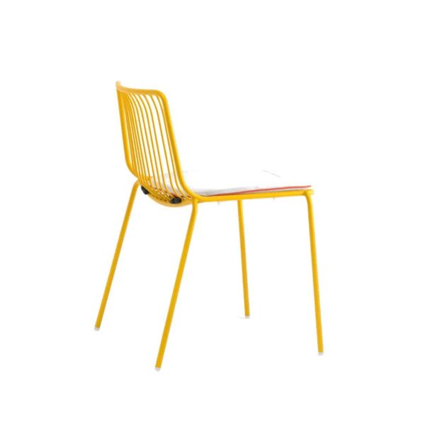 Nolita side chair 3650 Pedrali at DeFrae Contract Furniture Mustard with cushion