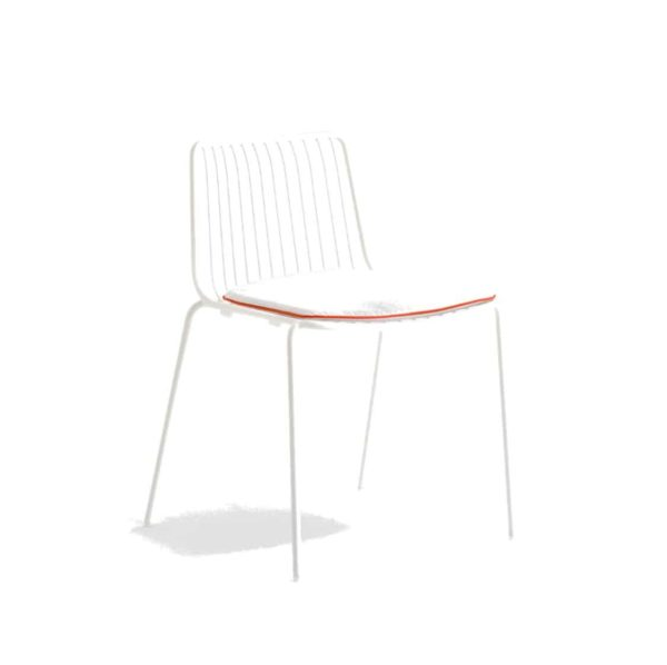 Nolita side chair 3650 Pedrali at DeFrae Contract Furniture white with cushion