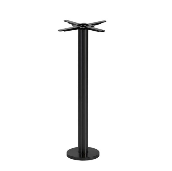 Permanent Floor Fixed Black Table Base Poseur Height