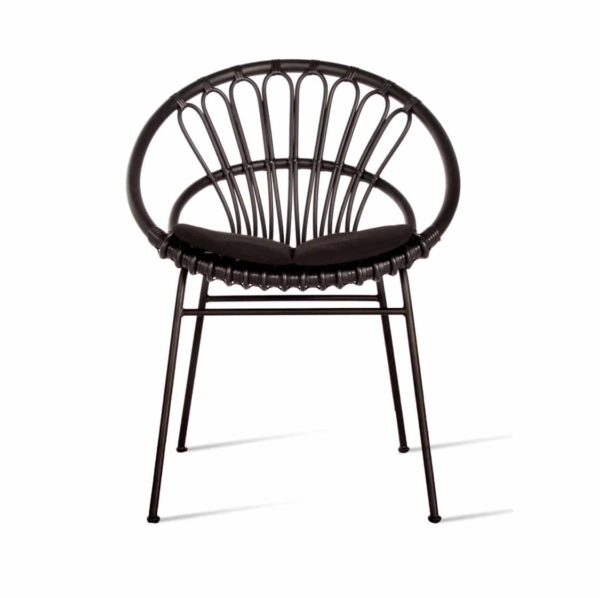 Roxy Outdoor Dining Chair Vincent Sheppard at DeFrae Contract Furniture Black
