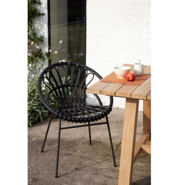 Roxanne Outdoor Dining Chair Vincent Sheppard at DeFrae Contract Furniture Black