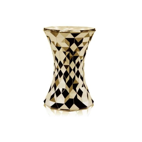 Stone Side Table from Kartell at DeFrae Contract Furniture Metallic Gold