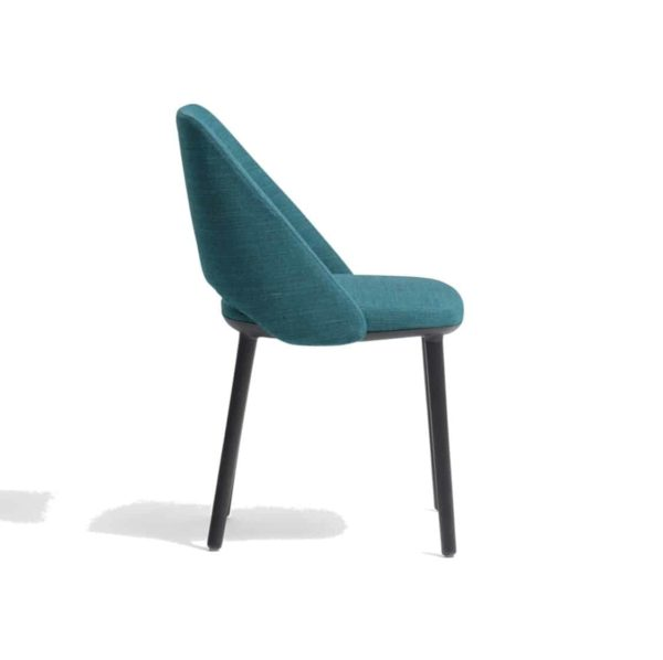 Vic 655 side chair from Pedrali at DeFrae Contract Furniture Blue Left Side