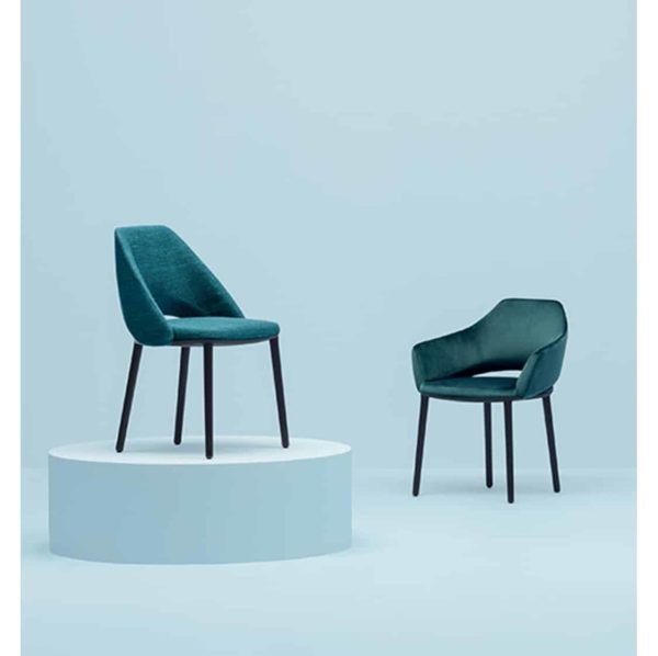 Vic 655 side chair from Pedrali at DeFrae Contract Furniture Blue in situ