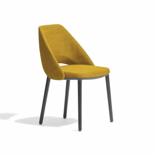 Vic 655 side chair from Pedrali at DeFrae Contract Furniture Mustard