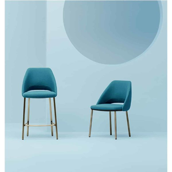 Vic 656 side chair from Pedrali at DeFrae Contract Furniture Blue In Situ