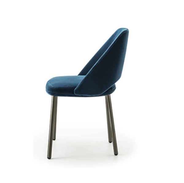 Vic 656 side chair from Pedrali at DeFrae Contract Furniture Blue Side
