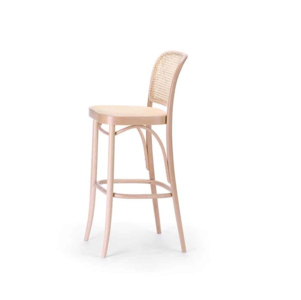 Cane Bar Stool 811 Natural DeFrae Contract Furniture 3