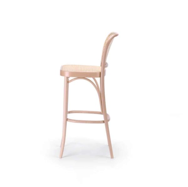 Cane Bar Stool 811 Natural DeFrae Contract Furniture 4