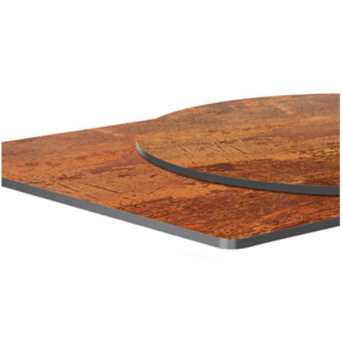Copper Laminate Table Tops DeFrae Contract Furniture Close Up