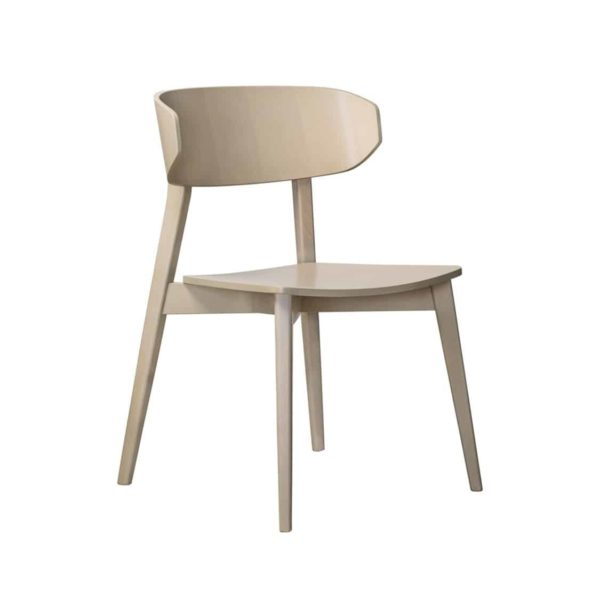 Hellen Plus SE01 Wooden Side Chair with curved back rest DeFrae Contract Furniture natural