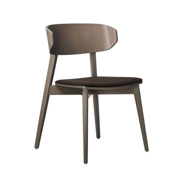 Hellen Plus SE 02 Side Chair Wooden Side Chair with curved back rest DeFrae Contract Furniture walnut