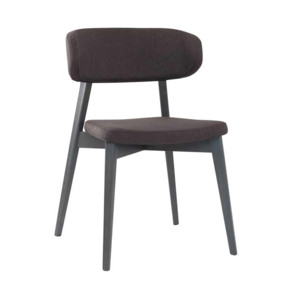 Hellen Plus SE 04 Side Chair Wooden Side Chair with curved back rest DeFrae Contract Furniture walnut