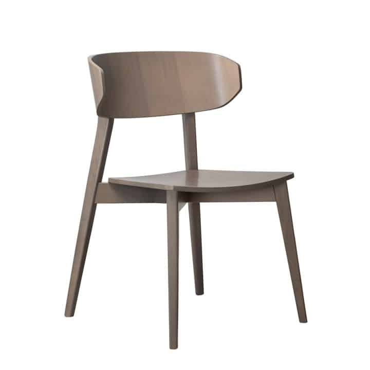 Hellen Plus SE 01 Side Chair Wooden Side Chair with curved back rest DeFrae Contract Furniture walnut