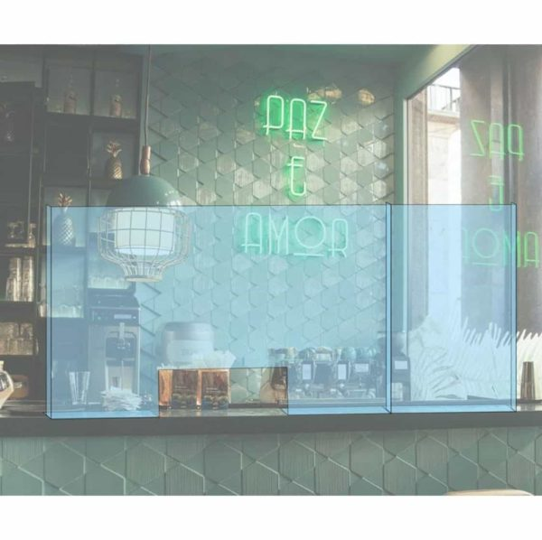 Hygeine Counter SCreens DeFrae Contract Furniture Premium Moulded