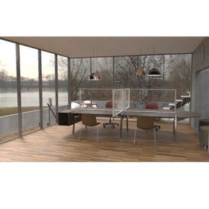 Hygeinic Desk Screens COVID 19 DeFrae Contract Furniture