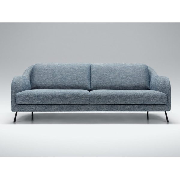 Karin 3 Seater Sofa DeFrae Contract Furniture Blue Fabric