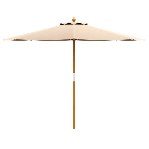 Prince Parasol For Outdoor Garden or Contract Use in Natural