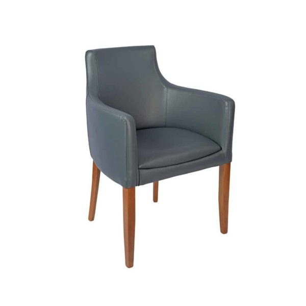 Repton Armchair DeFrae Contract Furniture Grey Faux Leather