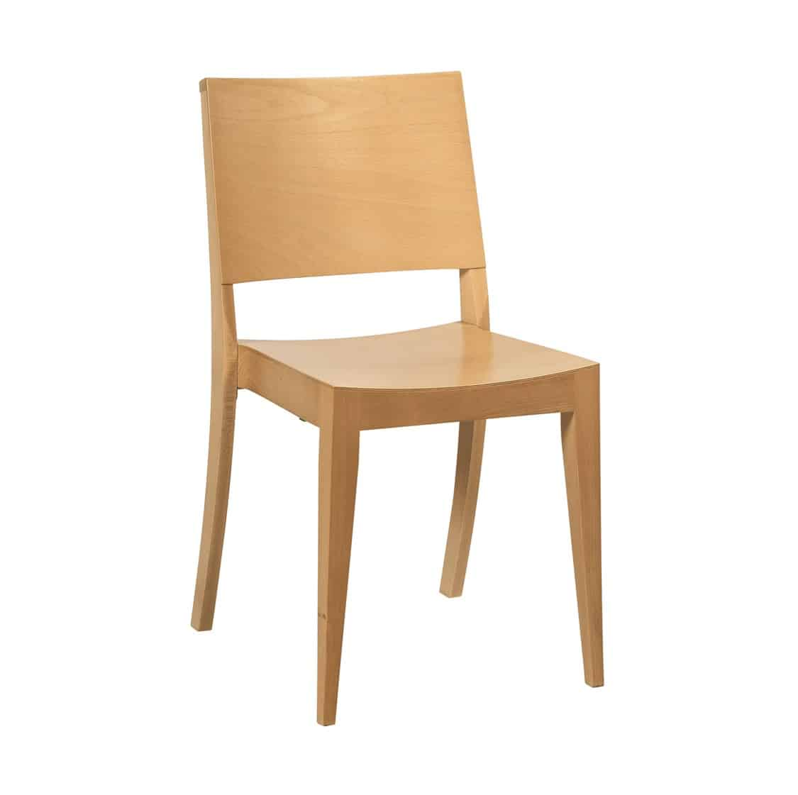 Robyn Side Chair All Wood Chair DeFrae Contract Furniture