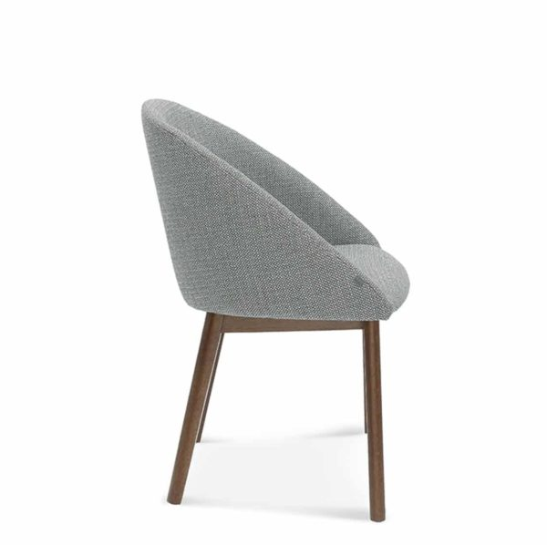 Sammy Side Chair DeFrae Contract Furniture Side View