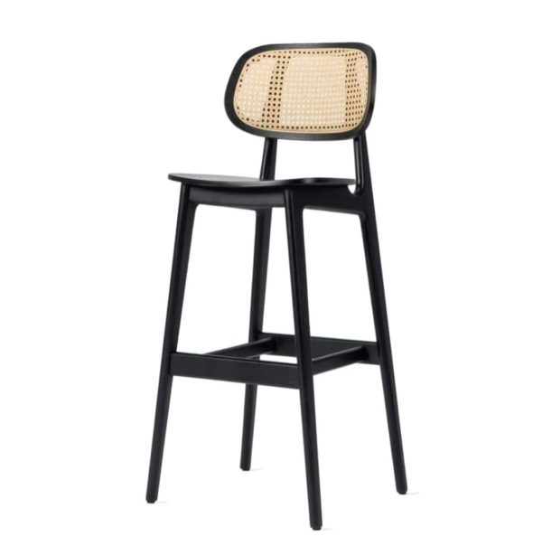 Titus bar stool Vincent Sheppard at DeFrae Contract Furniture Cane Seat and Back