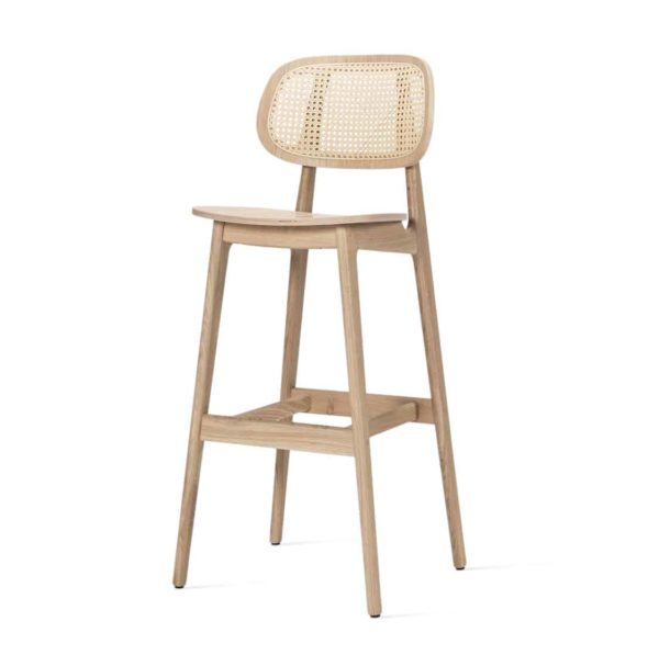 Titus bar stool Vincent Sheppard at DeFrae Contract Furniture natural Cane Seat and Back
