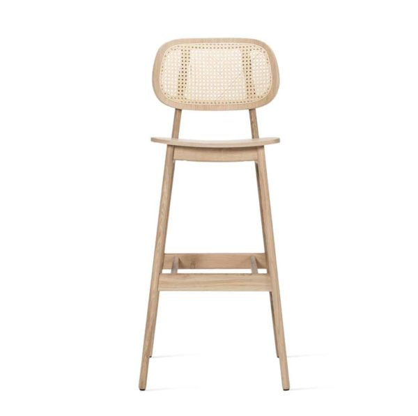 Titus bar stool Vincent Sheppard at DeFrae Contract Furniture natural Cane Seat and Back side on