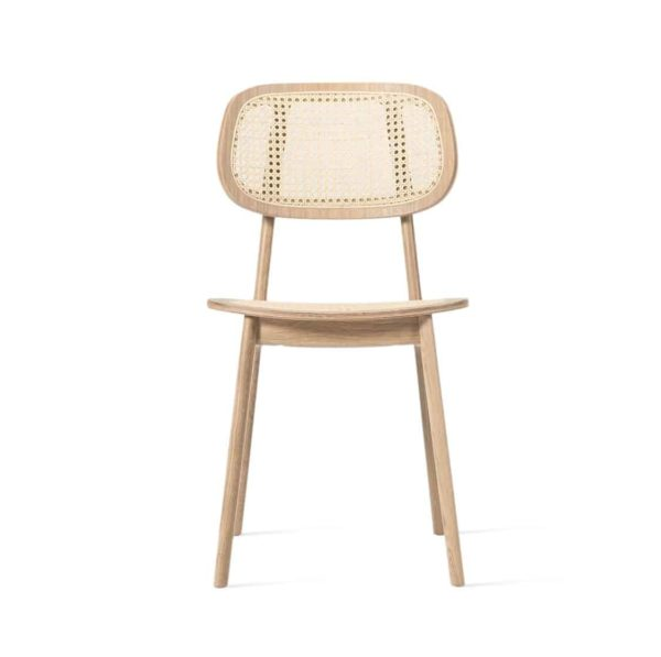 Titus dining chair Vincent Sheppard at DeFrae Contract Furniture natural frame and cane back rest